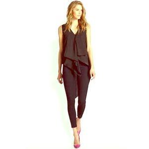 Cyprien asymmetrical black draping blouse XS